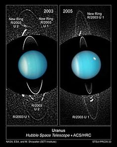 Newly Discovered Moon and Rings of Uranus