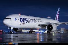 """Qatar Airways Boeing 777-3DZ/ER """"OneWorld Alliance LogoJet"""""""
