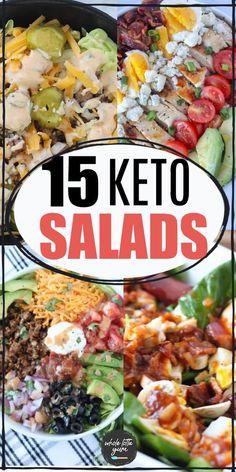 Healthy Coleslaw Recipes, Chef Salad Recipes, Keto Recipes, Keto Foods, Ketogenic Recipes, Antipasto Salad, Salads, Keto Taco Salad, Keto Dinner