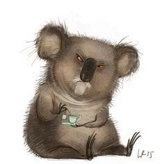 peppermint tea for mr. koala?WIEBKE RAUERS ILLUSTRATION