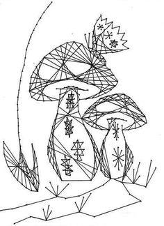 Nerinai.eu - nėriniai, mezginiai, nėrinių brėžiniai, pamokos bei patarimai - simegrafijos technikos pavyzdžiai String Art Tutorials, String Art Patterns, Pictures On String, String Crafts, Drawing Prompt, Geometry Art, Thread Art, Art N Craft, Pencil Art