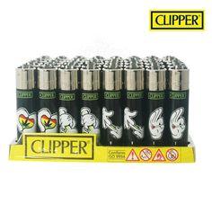 Boite de 48 briquets Clipper Weed Cartoon Hands