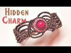 Macrame tutorial - the Hidden charm bracelet - Hướng dẫn thắt vòng tay bằng dây sáp - YouTube