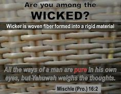 "Understanding the details of wickedness is key to coming out. As expressed by Mischle (Pro.) 16:2, there is a tendency to think that we are ""pure"". Uncleanness expresses the opposite of pure as one of its meanings is impure."
