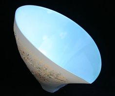 Ceramics by Jenny Morten at Studiopottery.co.uk - Stratified tilting bowl, No. 7