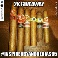 """#Repost @andredias95  PLEASE SHARE SO THIS CAN HAPPEN Soon when I hit 2k Followers I'm gonna do a """"little"""" GIVEAWAY so I want you to take the best #inspiredbyandredias95 photo you can take  if you've been a follower of mine for a while you should know my style if you're new just check the other photos and get inspired   So put the tag in you're photo and tag me so I can find the photo faster  Once I hit 2k I'll pick my favourite  Good luck   #Cohiba #cigaraficionado #cigaroftheday…"""