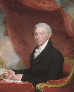 Gilbert Stuart (American, 1755–1828). James Monroe, ca. 1820–22. The Metropolitan Museum of Art, New York. Bequest of Seth Low, 1916 (29.89) #letters #Connections