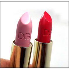 Dolce&Gabbana Classic Cream Lipstick in Bonbon and Bellissima. www.cybelesays.com #bbloggers #lipstick #dolceandgabbana #makeup