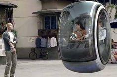 Conheça o curioso Volkswagen Hover, o carro do futuro  Protótipo da marca alemã utiliza energia magnética para se movimentar a centímetros do chão