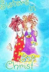 This is the way I think of you and me -----Sisters in Christ.  I cherish our Pinterest relationship.  Christian Love (Agape) Cecilia.