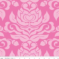Extravaganza - Damask Pink - by Lila Tueller Designs for Riley Blake Designs (Yardage, 100% Cotton) by TheCleverQuiltShoppe on Etsy