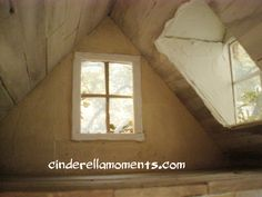 Cinderella Moments ceiling, big craft sticks