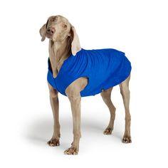 Gold Paw Stretch Fleece Dog Coat - Cobalt Blue | PupLife Dog Supplies
