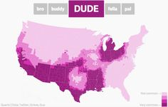 "mindcrankismycommander: "" rubiline: "" maptitude1: "" These maps show the regional prevalences of the words 'bro', 'buddy', 'dude', 'fella', and 'pal' in the contiguous United States. "" there are no friends in florida "" PvP zone """