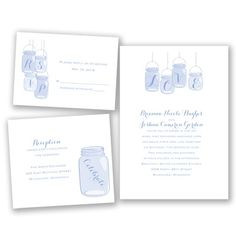 Canning Jar - Wedding Invitation Bundle - Budget, Inexpensive, Value at Invitations By David's Bridal