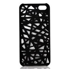 Nid d'Oiseau New Style creux en plastique Hard Cover affaire pour Apple iPhone 5C Noir