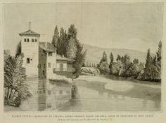 """""""Pamplona, fundición de Pinaqui donde trabajó Julián Gayarre"""" (1890)"""