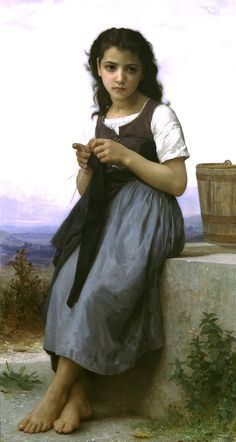 The Knitter (1884) - William-Adolphe Bouguereau