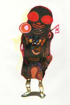 Koji Morimoto Character Design for Dimension Bomb copyright by Studio 4°C, 2009.