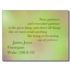 James Joyce Finnegans Wake Quote Postcard