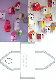 Casette a go go 🌼 Diy For Kids, Crafts For Kids, Decoration Creche, Diy Paper, Paper Crafts, Paper Houses, Little Houses, Bird Houses, Paper Dolls