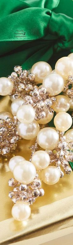 Pearl & Alexandrite Gemstones-Birthstones of June Pearl and Alexandrite are two of the three birthstones for the month of June; A Pearl symbolizes love, happiness an… Pearl And Lace, Pearl Grey, Romantic Table Setting, Perfume Genius, Christmas Colors, Elegant Christmas, Gold Christmas, Pearl Gemstone, Alexandrite