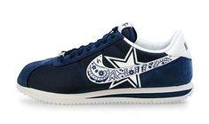 0010f303f82c Bandana Fever Bandana Dallas Cowboys Big Print Custom Navy White Nike  Cortez Shoes