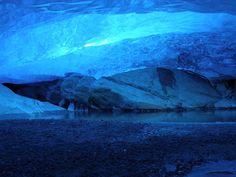 glacier cave underneath nigardsbreen jostedalsbreen, norway