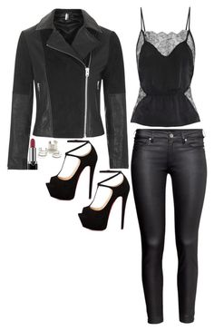 """Katherine Pierce Inspired Outfit"" by daniellakresovic ❤ liked on Polyvore featuring Fleur du Mal, H&M, Marc, Talitha, Topshop and Jeweliq"