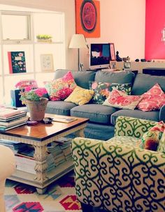 5 Colorful Eclectic Living Rooms This Is Sooo Meee