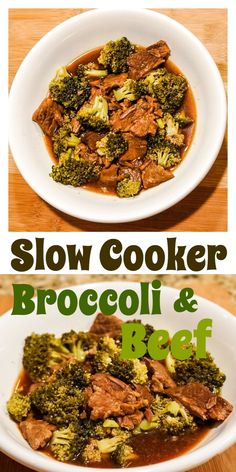 Slow Cooker Broccoli & Beef. Healthy meal everyone will enjoy. Skip the MSG and extra sodium from a takeout menu item and make this super duper easy recipe!!