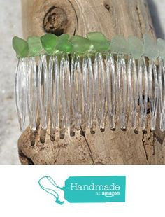 Delicate Shades of Genuine Green and Aqua Sea Glass Hair Comb from DejaVu Designs https://www.amazon.com/dp/B01F60R2WW/ref=hnd_sw_r_pi_dp_T1gyxb7N5PDDM #handmadeatamazon