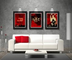 Trio Call Of Duty posters, Prints Inspired by Video Game Quote, Logo, Soldier's, Poster set, Gamer room, Gift for him, Cool paper poster,