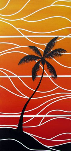 Tequila Sunrise Fine Art Painting Print of by ArtworksofRobCropper, $25.00
