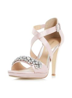 Womens *Head Over Heels by Dune Nude 'Maisy' High Heeled Sandals- Nude