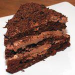 Chocolate cake (4g net carbs per 100g)