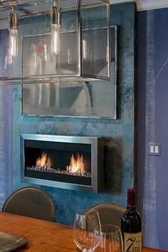 Bio-Blaze Square Large II Wall Mounted Ventless Ethanol Fireplace