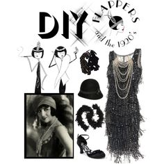 """""""It's a Very DIY Halloween - 1920's Flapper"""" by reneelyn on Polyvore"""