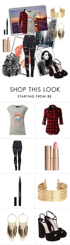 """New school year..."" by chrisantal ❤ liked on Polyvore featuring moda, LE3NO, 2LUV, Charlotte Tilbury, Stila, H&M, Panacea, Miu Miu, Aéropostale y women's clothing"