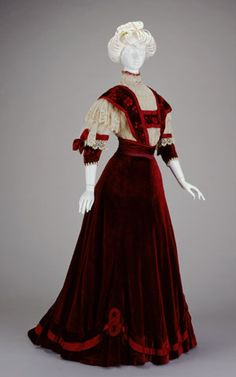 AFTERNOON DRESS: BODICE AND SKIRT  1906-1907