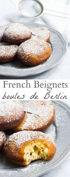 authentic French beignets are just like the soft, pillowy clouds you will enjoy on the streets of Paris. Recipe via DessertsThese authentic French beignets are just like the soft, pillowy clouds you will enjoy on the streets of Paris. Recipe via Desserts Just Desserts, Delicious Desserts, Yummy Food, Healthy Food, Gourmet Desserts, Mini Desserts, French Dessert Recipes, Mexican Food Recipes, French Recipes