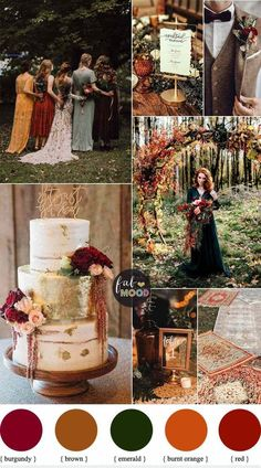 Fall Wedding Colors, Wedding Color Schemes, Spring Wedding, Autumn Wedding, Fall Color Schemes, Christmas Wedding, Perfect Wedding, Dream Wedding, Wedding Day