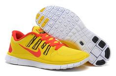 Mens Nike Free 5.0 Yellow Red Shoes #Yellow #Womens #Sneakers