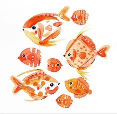 Cool Tones, Watercolor Illustration, Rooster, Clip Art, Guys, Animals, Instagram, Ocean, Illustrations
