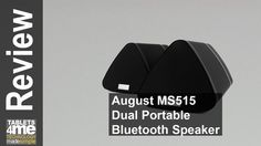 August MS515 - Dual Portable Bluetooth Stereo Speakers