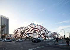 KPF wraps an automotive museum in LA with ribbons of metal