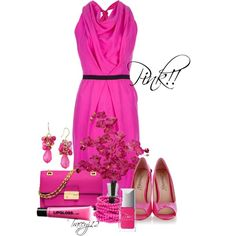 """""""Pink!"""" by traceyj12 on Polyvore"""