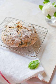 Almond, Raisin and Basil Soda Bread | Elsa Brobbey