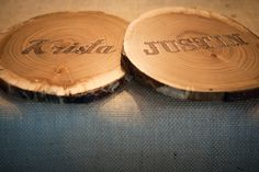 Wedding Personalized Wood Slices