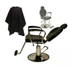 LCL Beauty Hydraulic-Lift Reclining Barber Chair